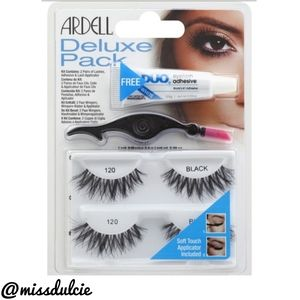 Ardell Deluxe Pack 2 Pr 120 Lashes Glue Applicator